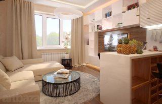 Дизайн трёхкомнатной квартиры в Казани