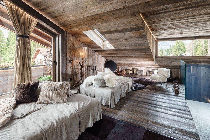 Дизайн интерьера квартиры в стиле Шале