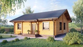 Проекты одноэтажных домов из бревна в Казани