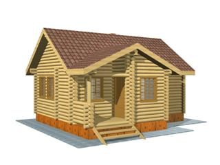 Проекты двухэтажных домов из бревна в Казани