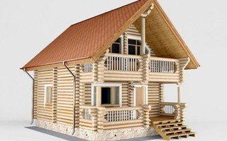 Проекты домов 5х5 из оцилиндрованного бревна в Казани