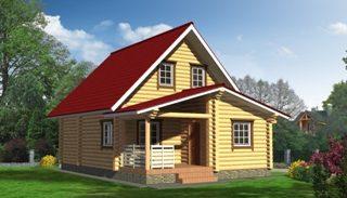 Проекты домов 5х6 из оцилиндрованного бревна в Казани