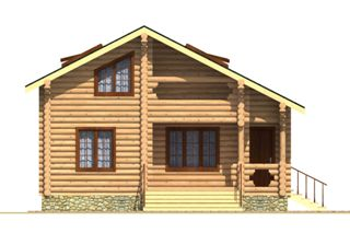 Проекты домов из бревна 5х7 в Казани