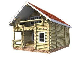 Проекты домов 6х6 из оцилиндрованного бревна в Казани