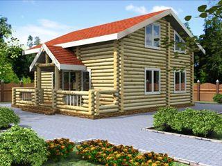 Проекты домов 6х7 из оцилиндрованного бревна в Казани