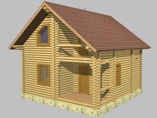Проекты домов 6х9 из оцилиндрованного бревна в Казани