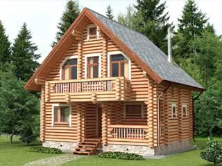 Проекты домов 7х7 из оцилиндрованного бревна в Казани