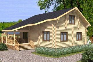 Проекты домов 7х8 из оцилиндрованного бревна в Казани