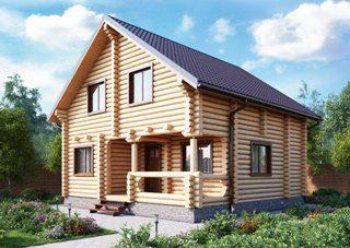 Проекты домов 7х9 из оцилиндрованного бревна в Казани