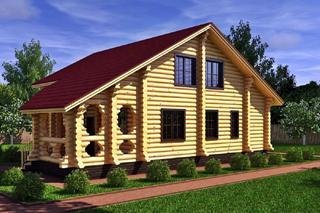 Проекты домов 8х8 из оцилиндрованного бревна в Казани