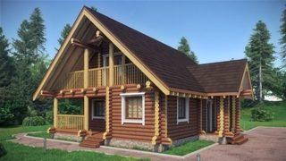 Проекты домов 9х9 из оцилиндрованного бревна в Казани
