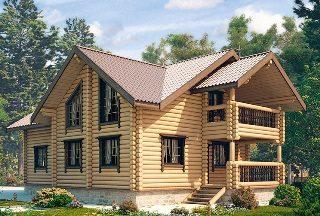 Проекты домов 9х10 из оцилиндрованного бревна в Казани