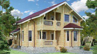 Проекты домов 9х12 из оцилиндрованного бревна в Казани