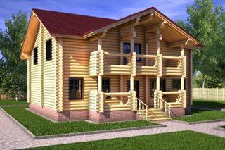 Проекты домов 10х10 из оцилиндрованного бревна в Казани