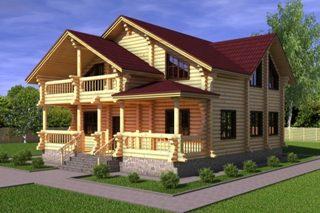 Проекты домов 10х12 из оцилиндрованного бревна в Казани