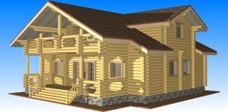 Проекты домов 11х11 из оцилиндрованного бревна в Казани