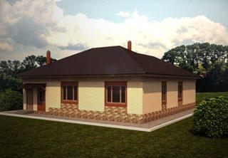 Проекты одноэтажных домов из кирпича в Казани