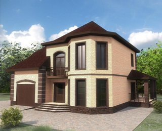 Проекты двухэтажных домов из кирпича в Казани