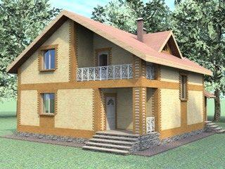 Проекты домов из кирпича 7х8 в Казани