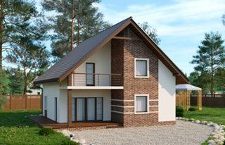 Проекты домов из кирпича 8х9 в Казани