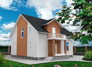 Проекты домов из кирпича 9х9 в Казани