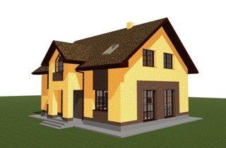 Проекты домов из кирпича 9х12 в Казани
