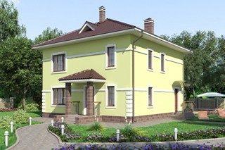 Проекты домов из кирпича 10х10 в Казани