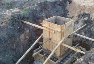 Строительство железобетонного столбчатого фундамента под ключ
