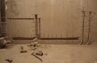 Фото процесса Штробление стен в Казани