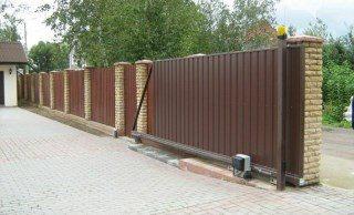 Откатные ворота под ключ в Казани