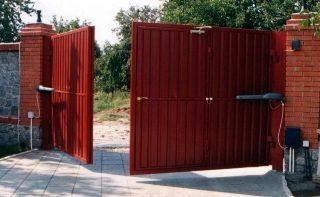 Автоматические распашные ворота