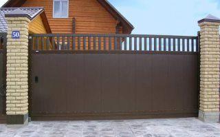 Фото процесса производства Металлические откатные ворота в Казани