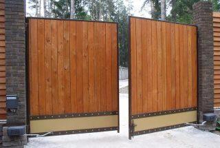 Фото процесса производства Распашные ворота для дачи в Казани