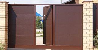Откатные ворота с калиткой в Казани