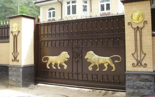 Кованые ворота откатные в Казани