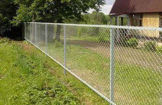 Забор из сетки рабицы в Казани