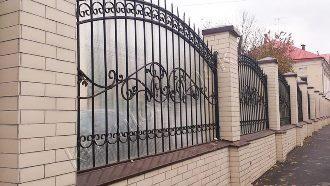 Кованые заборы с установкой в Казани
