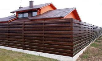 Деревянный забор под ключ в Казани